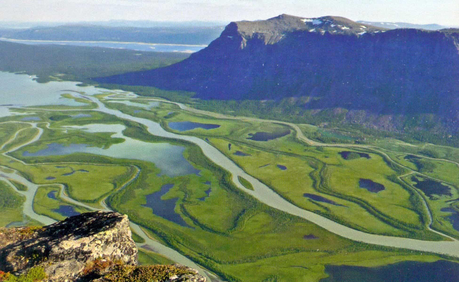 Rapadelta, Sarek, Zweden. Een foto van Arne Meesters en terug te vinden in het boek Wild... Scandinavië