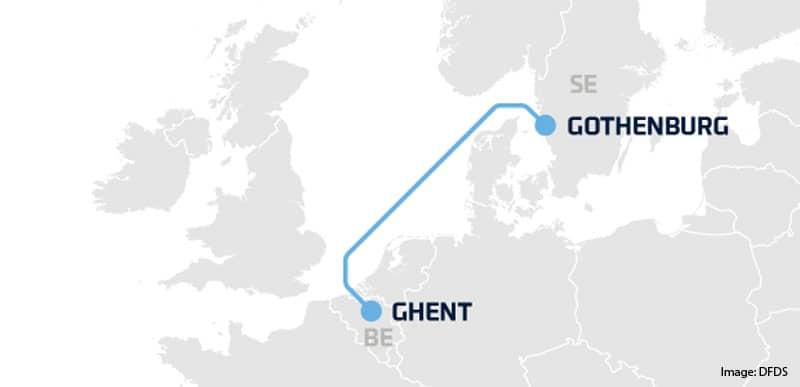 Volvoboot Gent-Göteborg DFDS