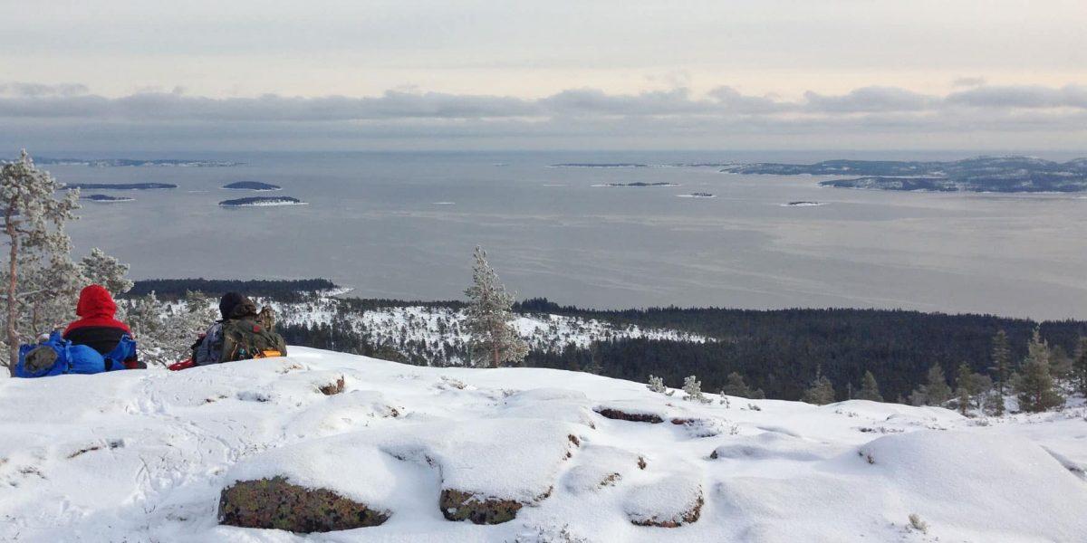Winterwandeling Zweden